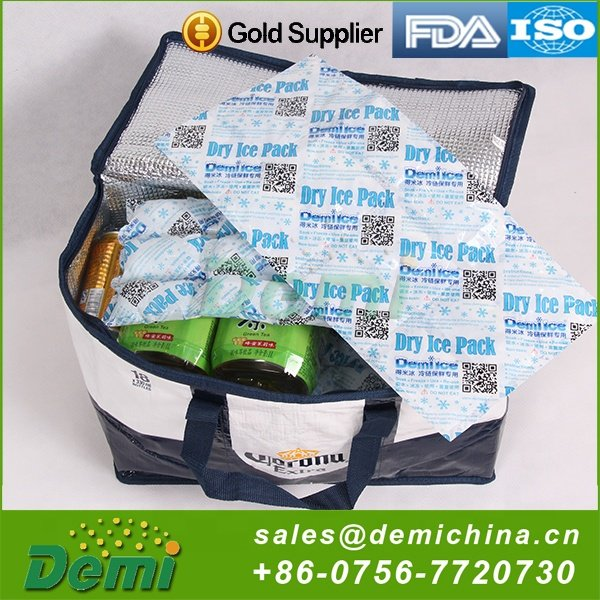 ISO9001,SGS Certification White,Black,Dark Green use again bendable ice pack, biodegradable absorbent cool bag for frozen food