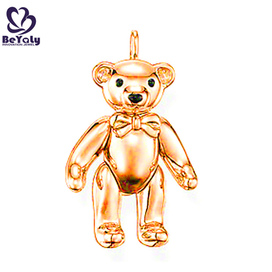 Dazzling silver golden jewelry mama bear pendant necklace