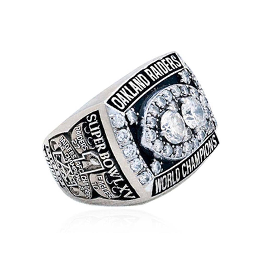 Wholesale cubic zircon oakland raiders championship rings