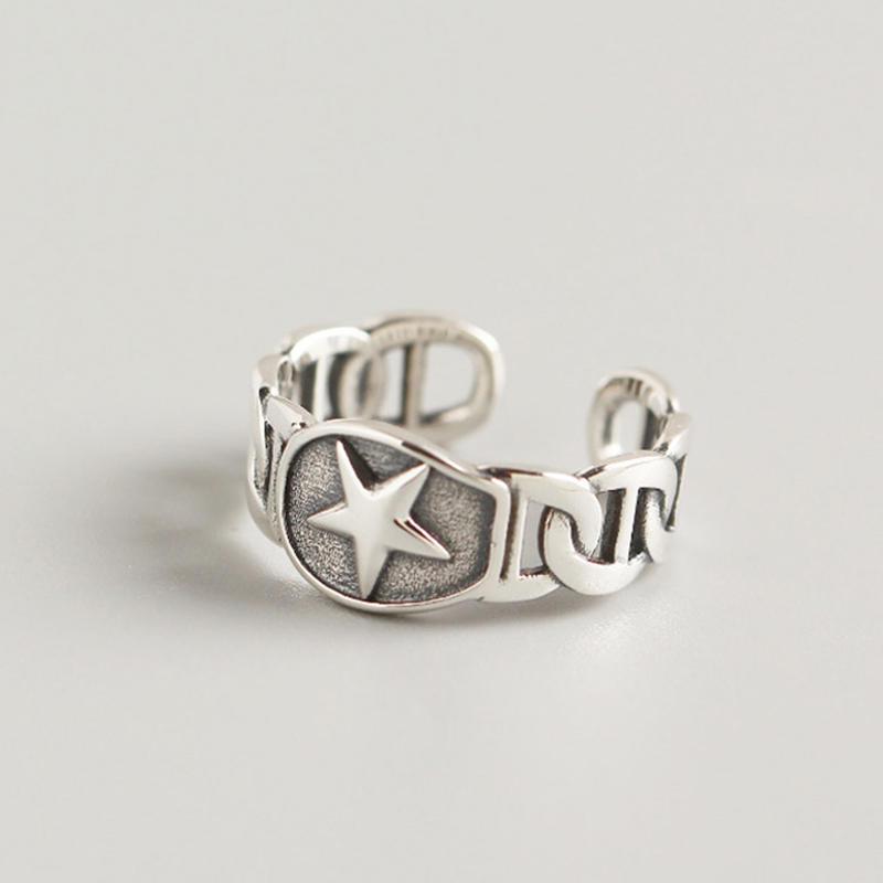 OEM And ODM Custom Star Sign Finger Gold Rings For Men