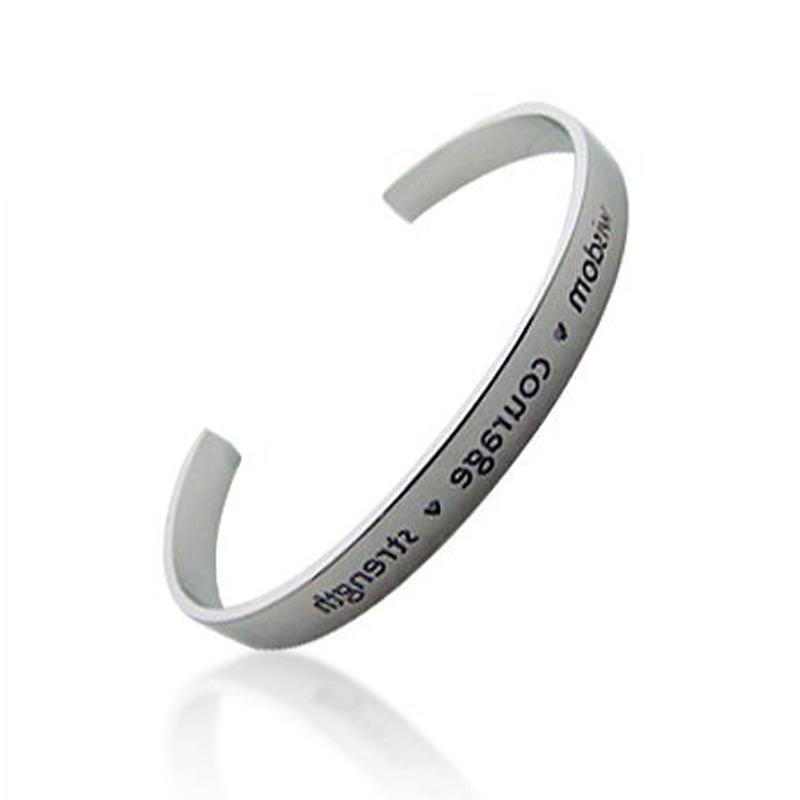 silver jewelry custom engraving cuff bracelet bangle
