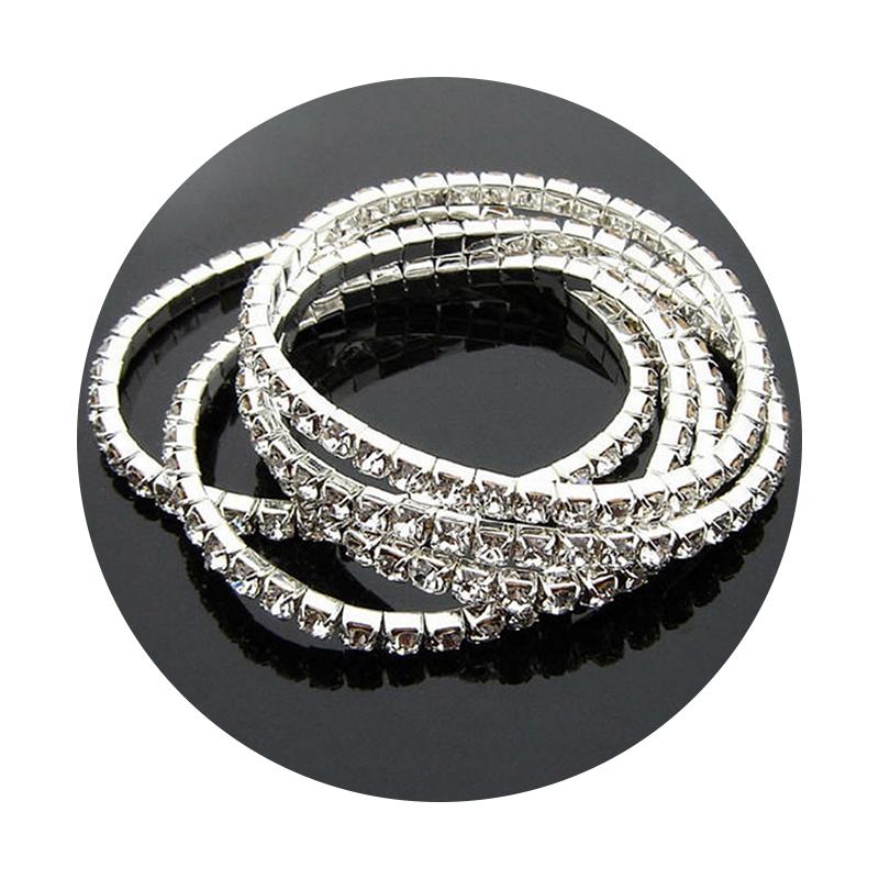 Simple Design Silver Jewelry Wholesale Gypsy Bracelet