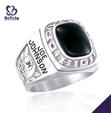 Custom made NEW Stylish Black Onyx School Ring