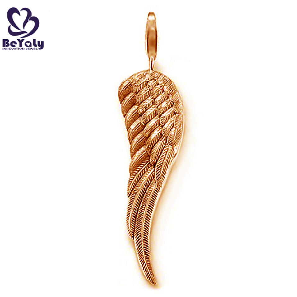 Charming angel wing design couple ring pendant necklace