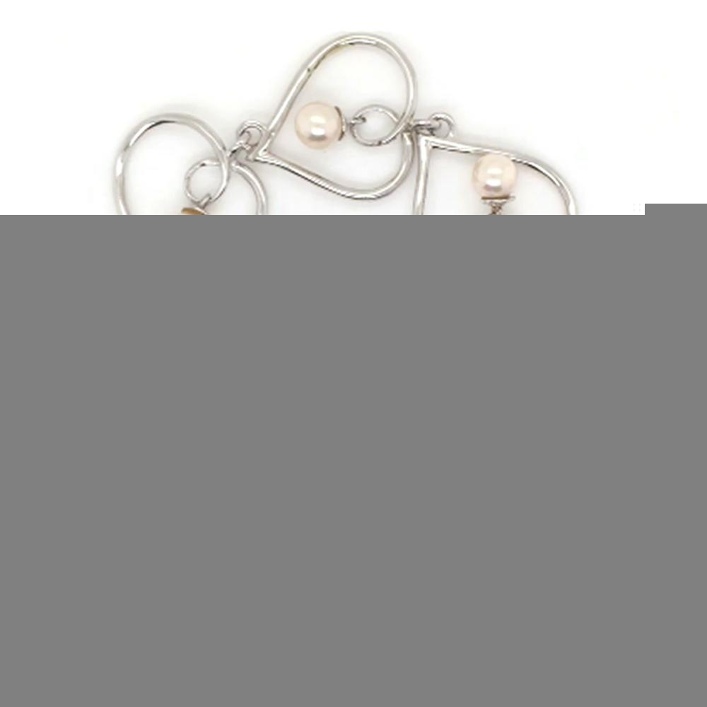 925 Silver Chain Design Female Fake Pearl Bracelet Wholesale