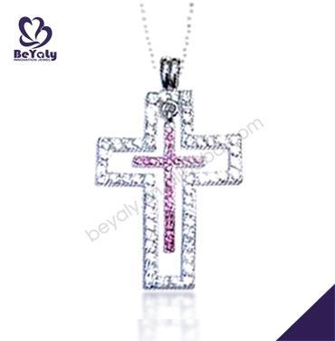 AAA zircon set engagement smart silver cross design nepal pendant