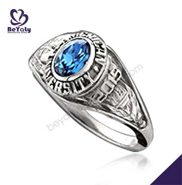 Customized university graduation ring for men