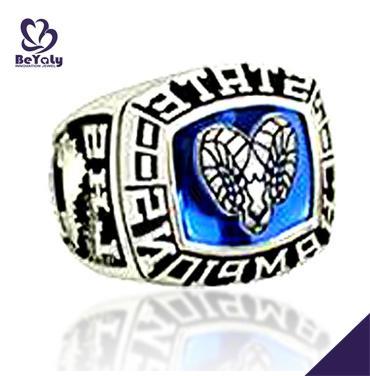 None fade silver white copper high school championship rings