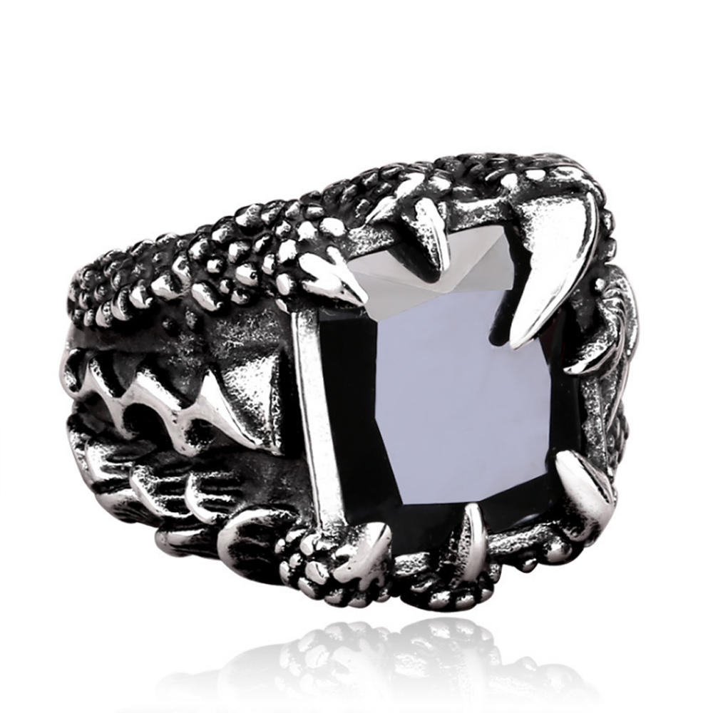 3D computer silver custom design wolf ring