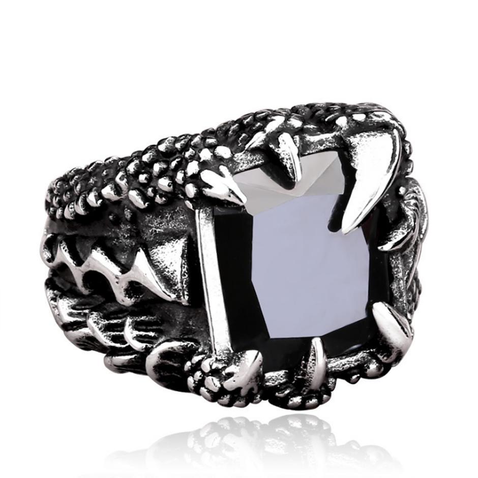 3D computer silver custom design wolf ring