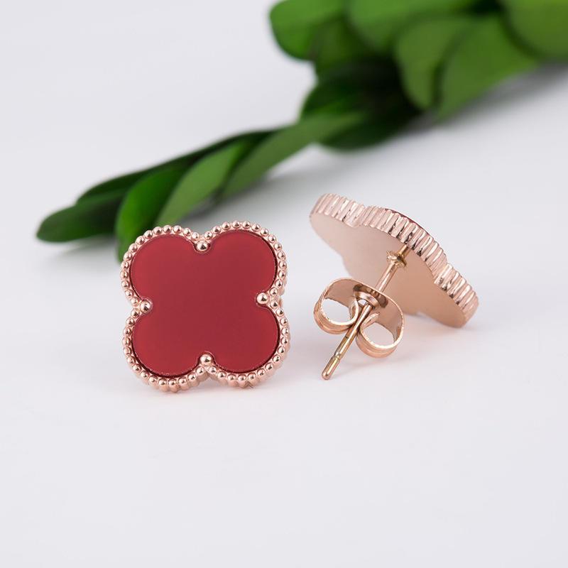 Trends Clover Design Silver Women Daily Wear Earrings