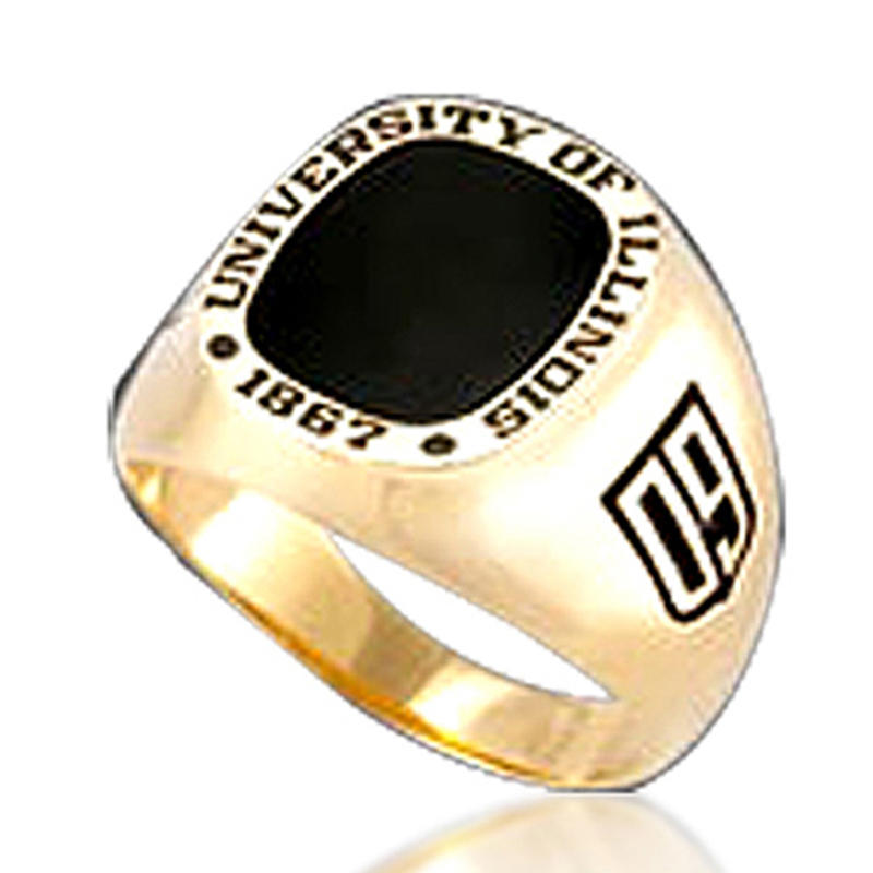 University Of Lllinois 2009 Graduation College Brass Class Ring