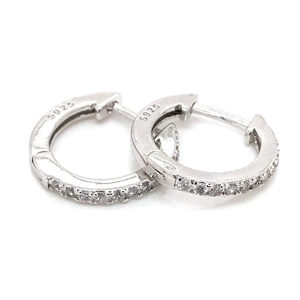 Shiny Cubic Zirconia Fashion Ladies Silver Clip On Earrings
