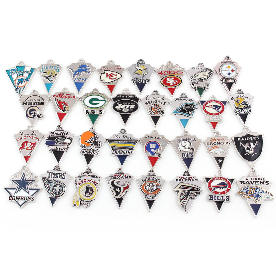 Dripping Oil Football Championship Team Mixes 32 Teams Sports Series Pendants