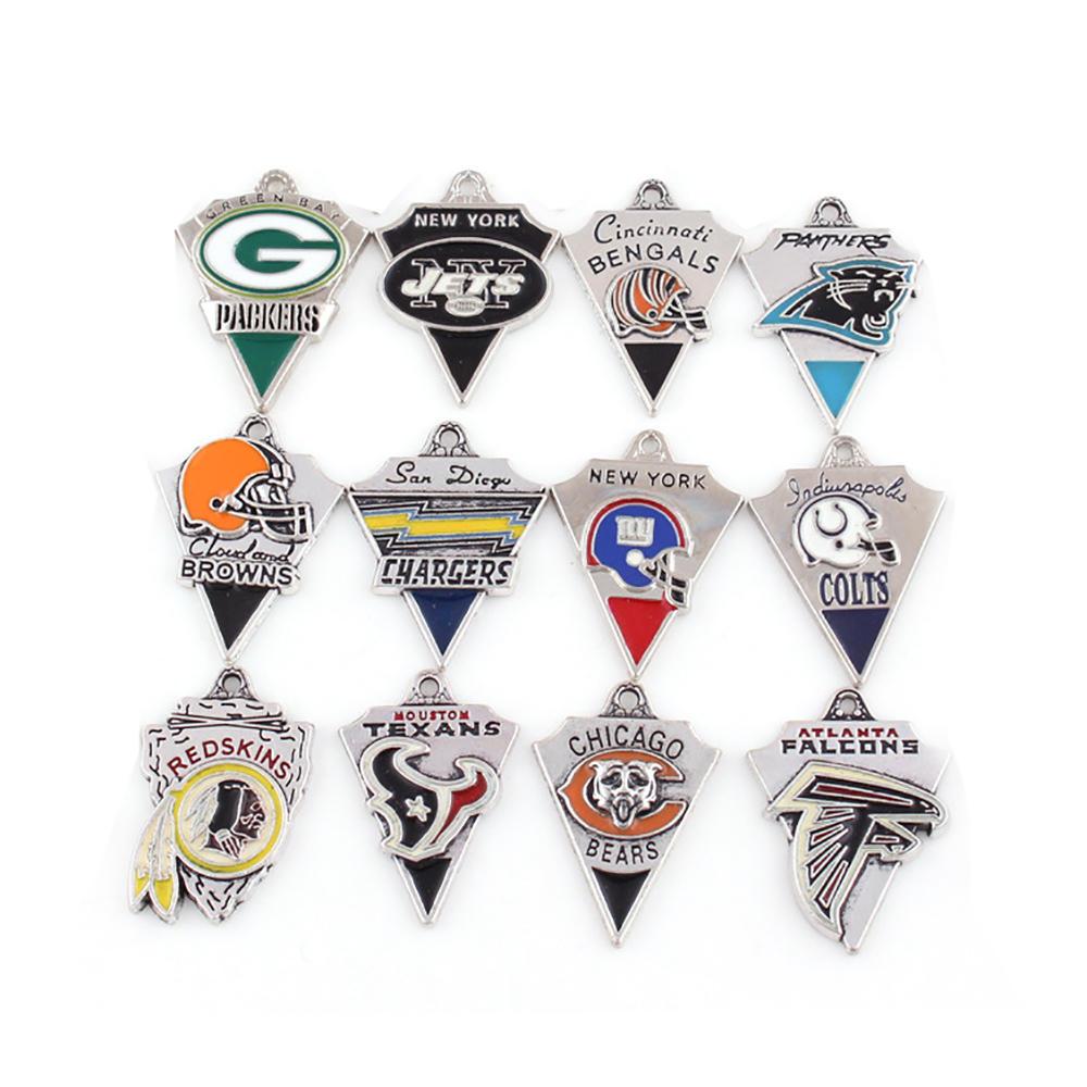 Football Championship Team Sports Series Pendant, Letter Triangle Pendant