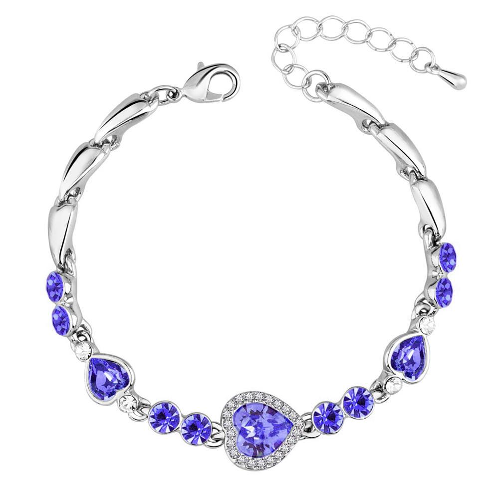 Comfort fit heart design 925 sterling silver charms jewellery bracelets