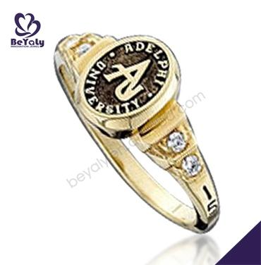 A grade design for students brass jewelry wide silver rings
