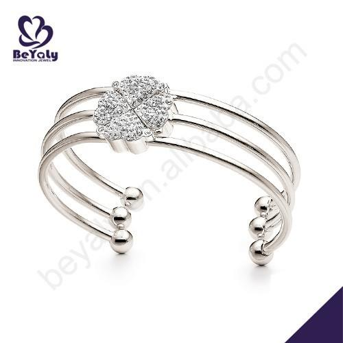 Dressy flower design open-ended 925 thai silver jewelry
