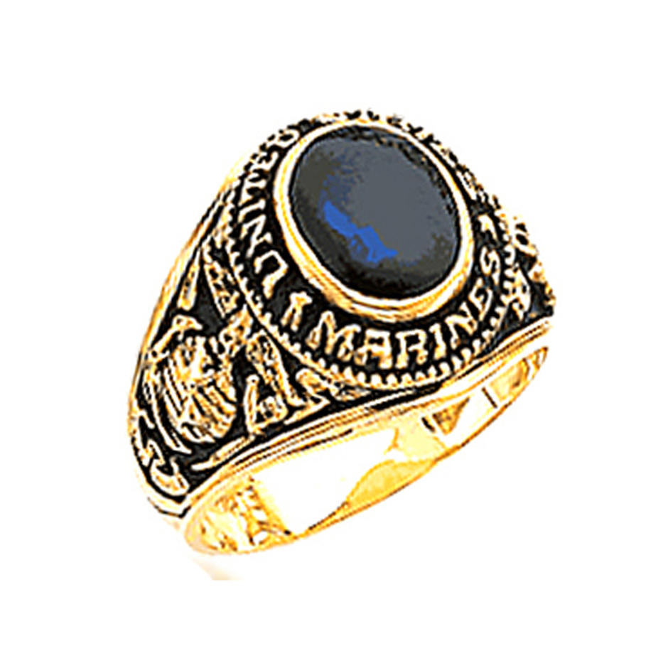Blue stone United State Marines military jewelry rings