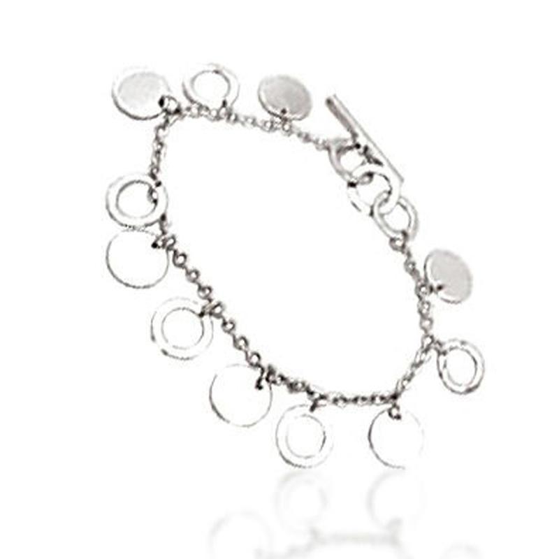 Shiny chic chain palm shape design sterling silver cuff bracelet