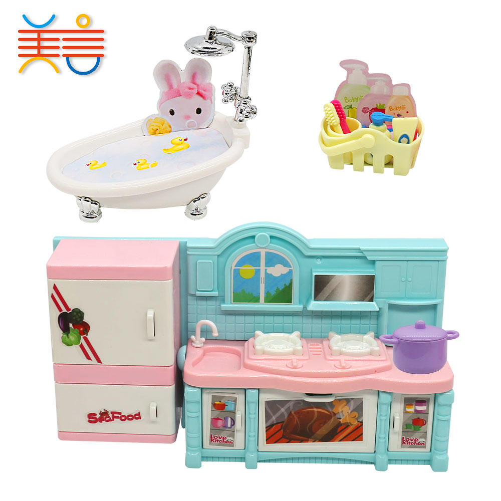Kitchen Red Real Steel House Play Game Cooking Sets Toys For Girls Kids