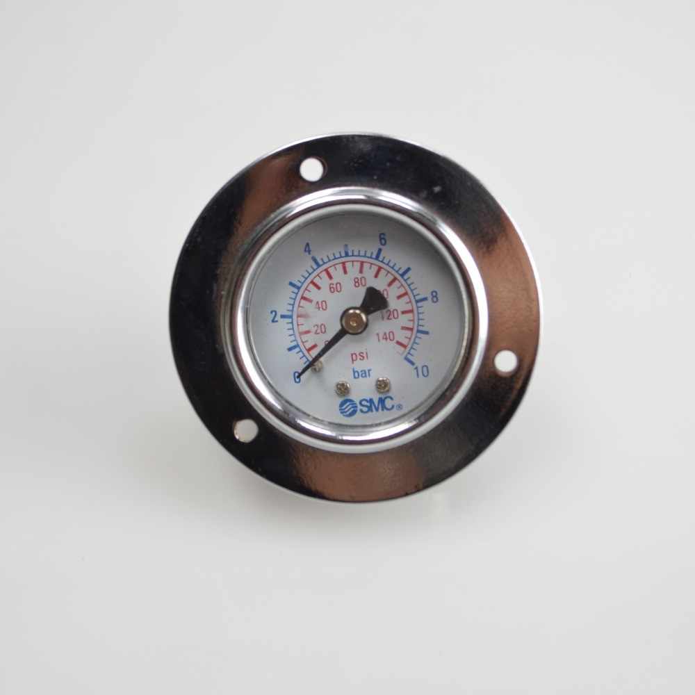 Double display axial pressure gauge bar and PSI