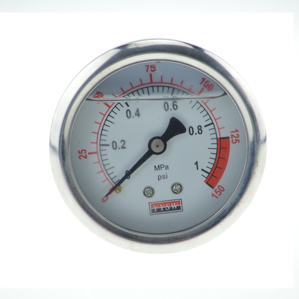 Cheap Water treatment pressure gauge 1Mpa 150PSI oil filled