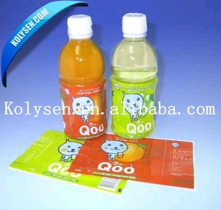 custom printed Good shrinkage PET heat shrink film for bottle shrink label