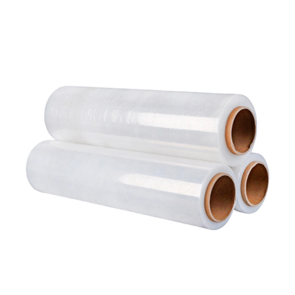 factory price moisture proof and high tension force hand stretch transparent film
