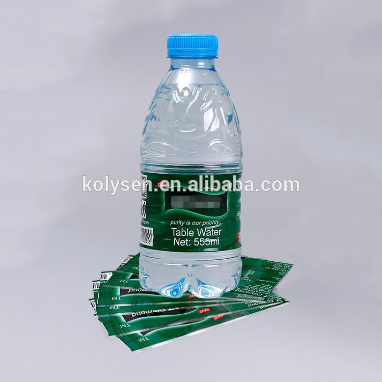 Custom printed shrink sleeve labels for mineral water bottles packaging