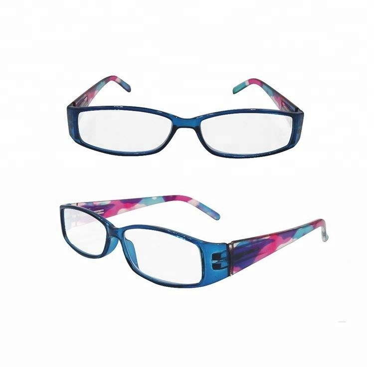 EUGENIA spring hinge women's colorful pattern temple square clear lens reading glasses
