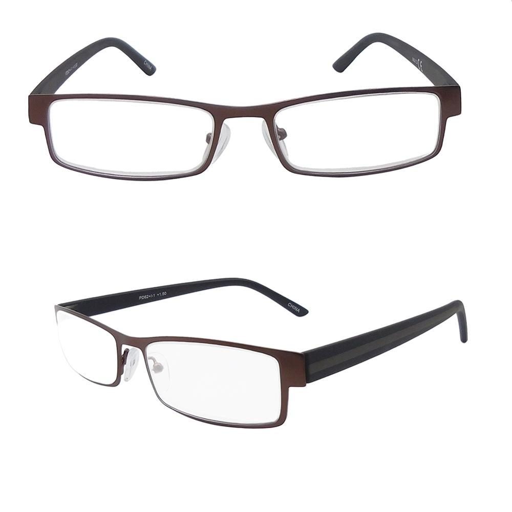 EUGENIA Cheap Price Supermarket Reading Glasses Trendy Classic Stainless PC Temple Reading Glasses