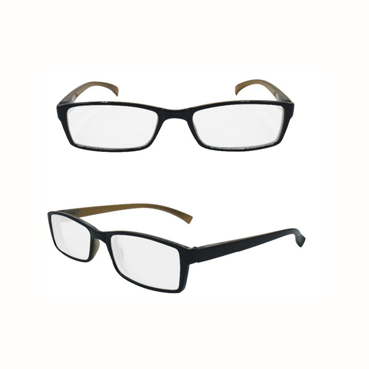 EUGENIA hot selling smart style small square shape spring hinge cheap plastic reading glasses