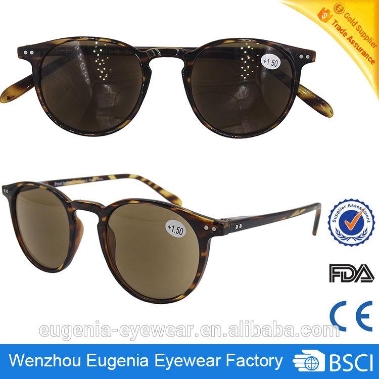 wholesale plastic frame tinted reading glasses sun readers