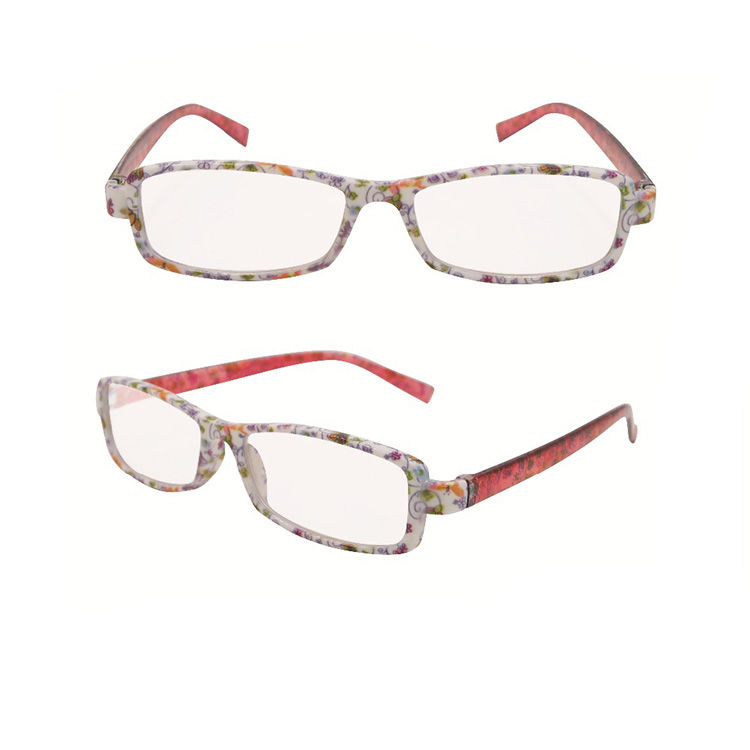 EUGENIA Wholesale popular cheap plastic flower printing china supplier OEM reading glasses