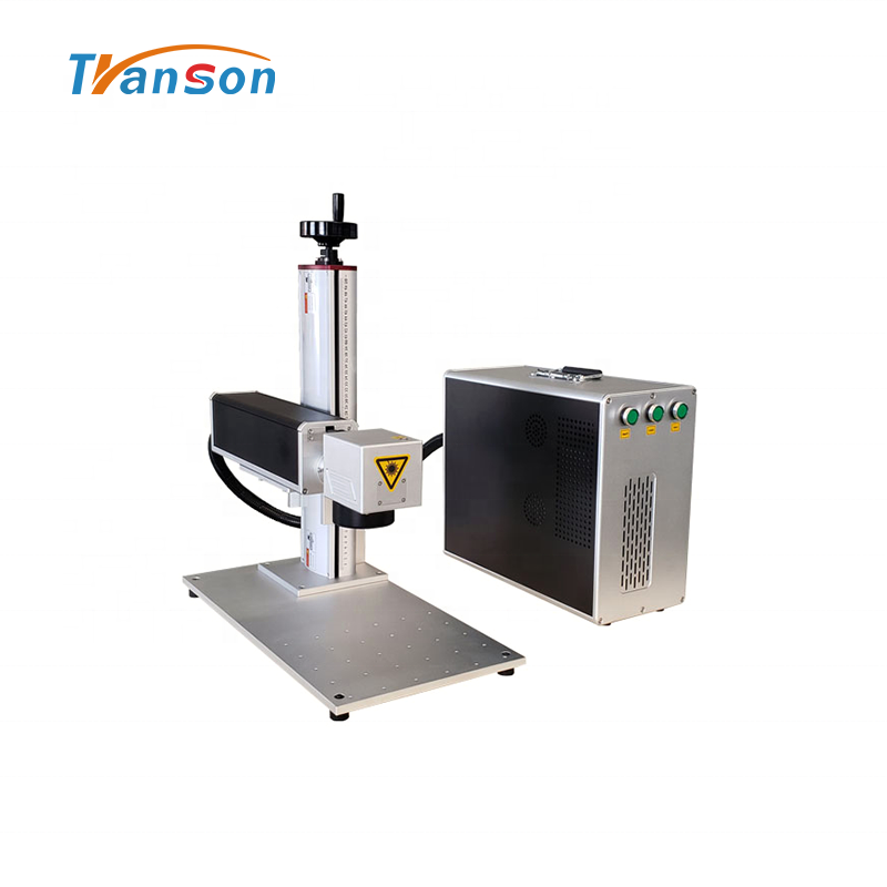 Transon 30WFiber laser Marking Machine Mini Type for Metal Plastic Diy Art and Craft Silver Gold Steel Aluminum Acrylic