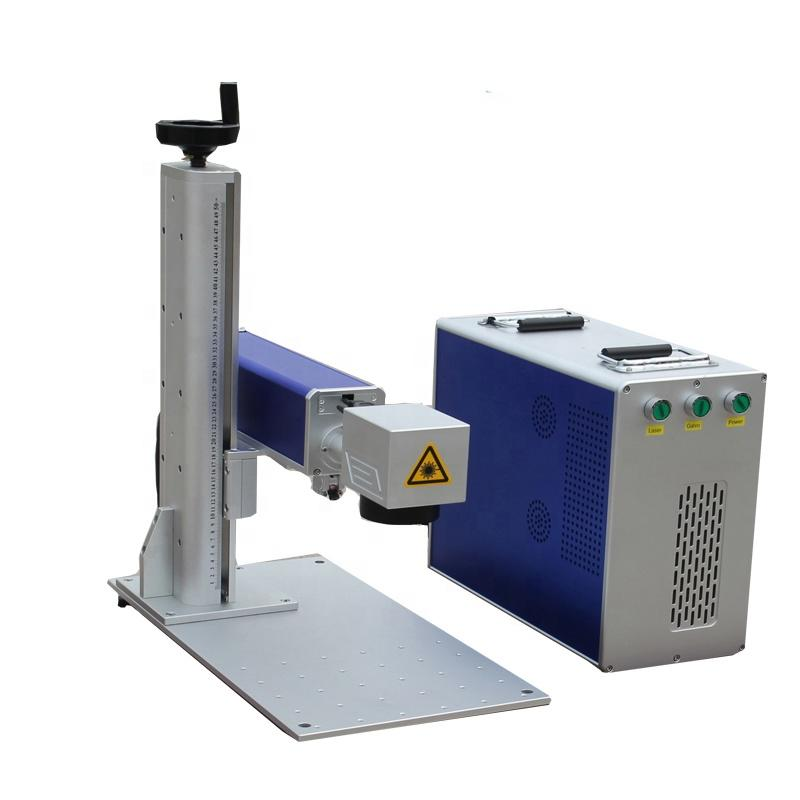 Raycus Metal Fiber Laser Marking100W Laser Engraving Machine On Curve Surface Aluminum Alloy
