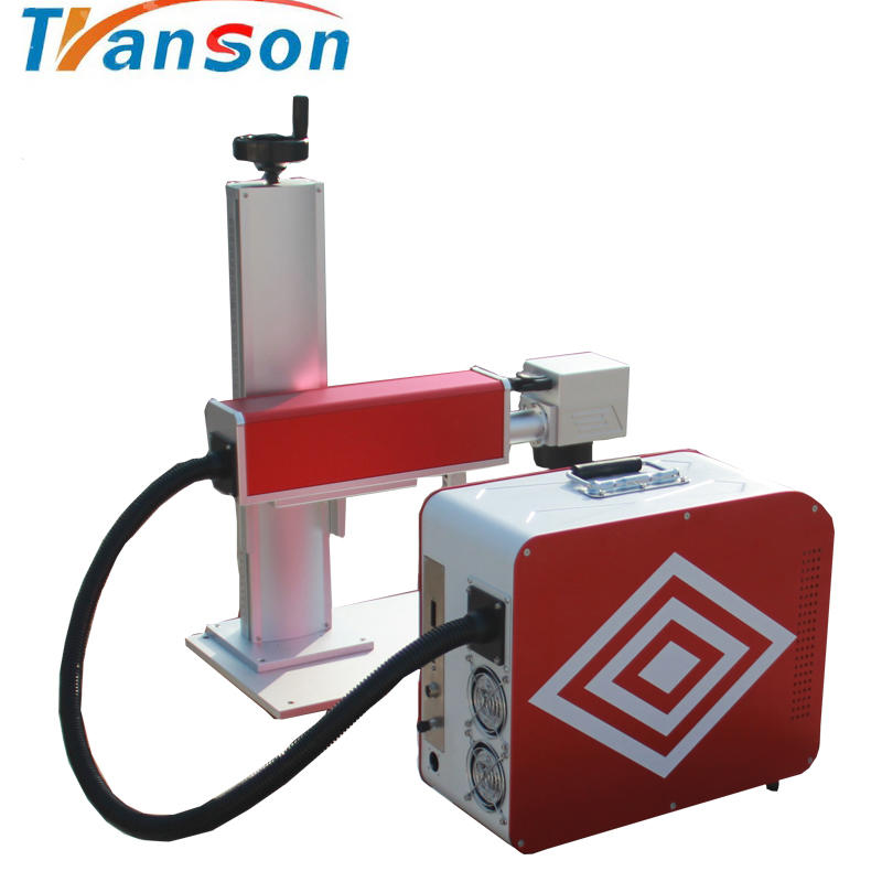 for tools ,plastic and auto parts 30W IPG mini Fiber Laser Marking Machine