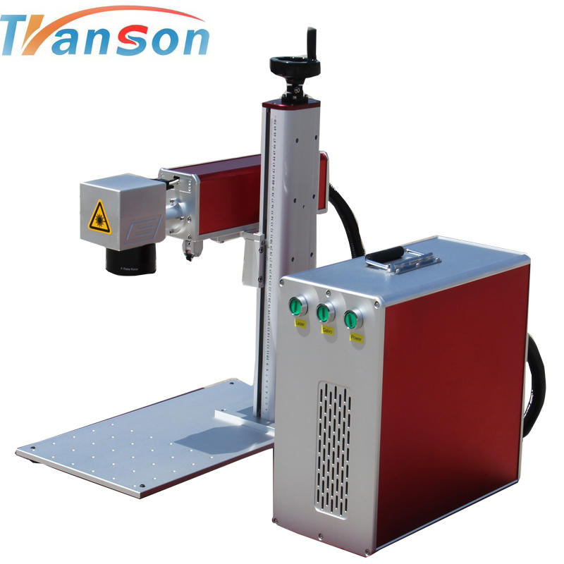 High Speed 30W MOPA JPT M1 Mini Fiber Laser Marking Machine for Colorful marking on Stainless Steel
