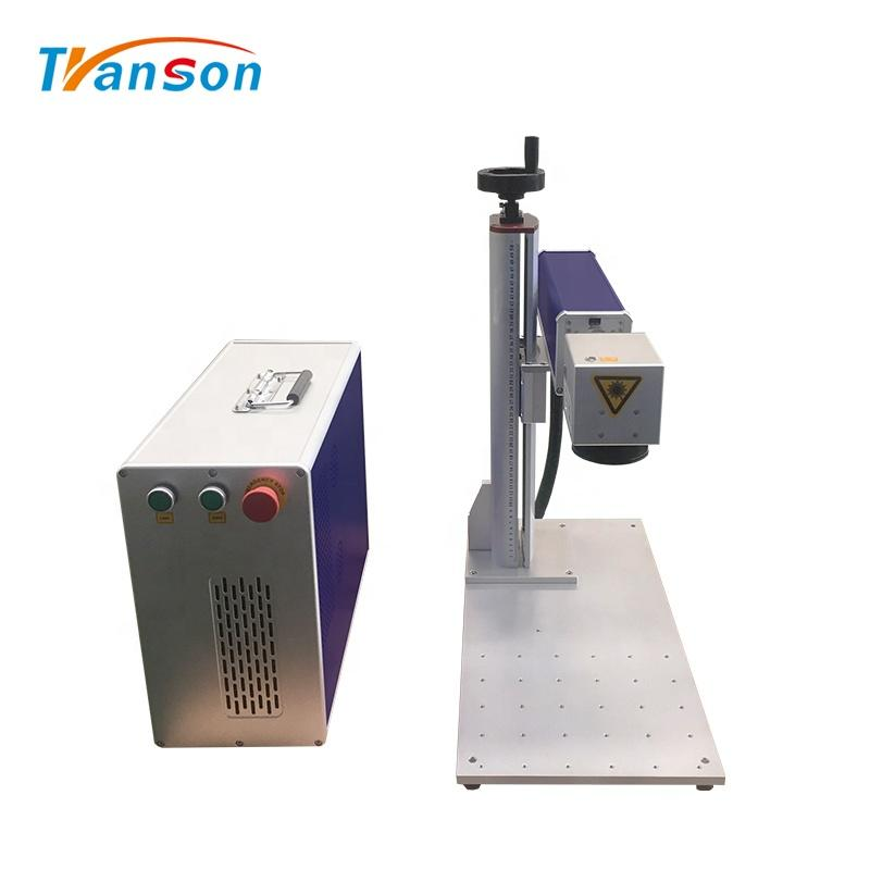 Transon 2020 New Design 30W Fiber laser Marking Machine Mini Type for DIY Art and Craft Metal Silver Gold Aluminum