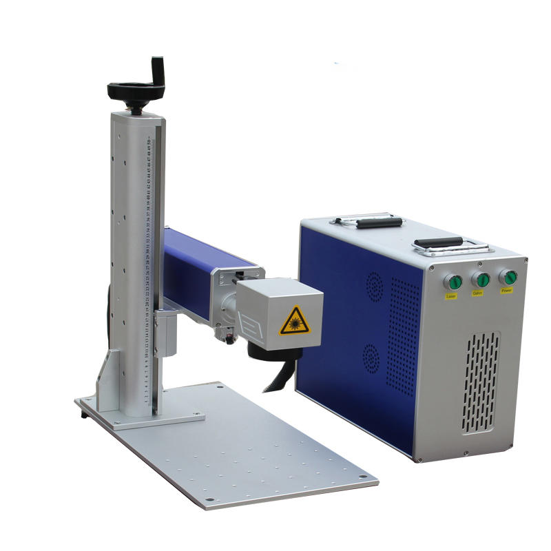 Mini 20W Fiber Laser Marking Cutting Machine For Sliver Aluminum Brass Steel Plastic