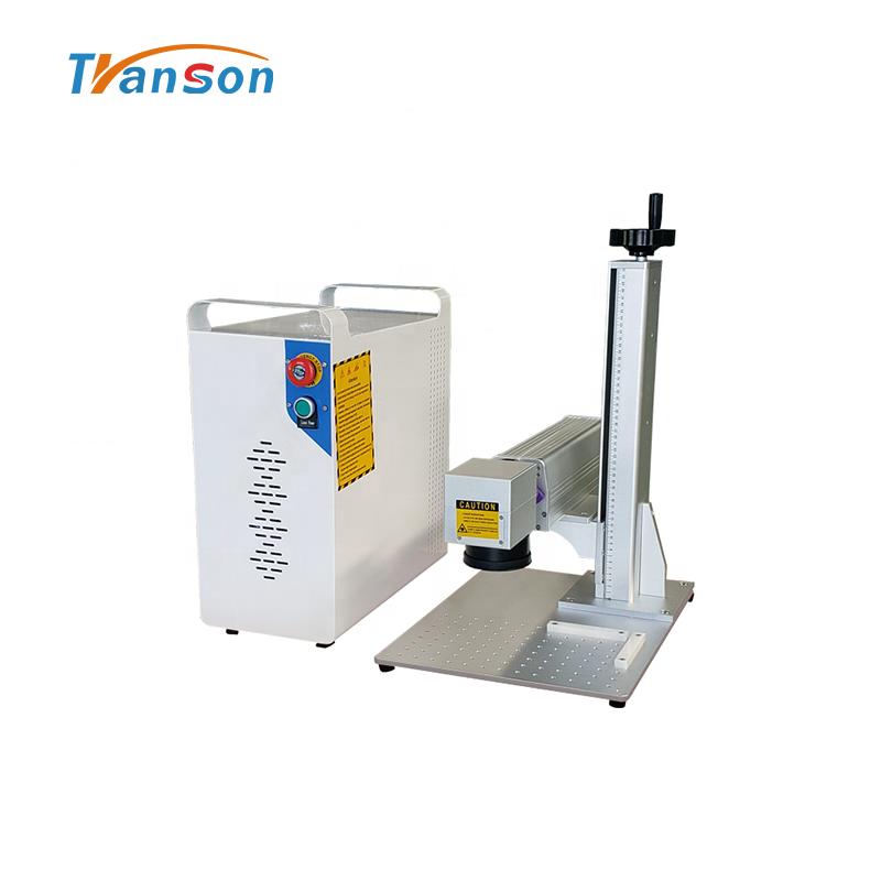 mini Split High Power 100W Fiber Laser Marking Machine Marking on Metal
