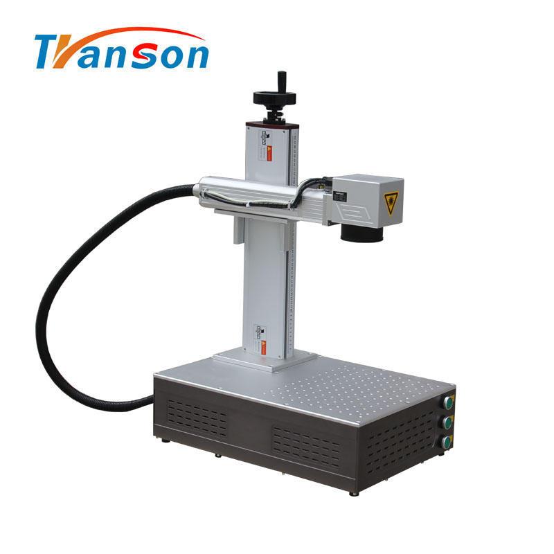 30W IPG Laser Fiber laser Marking Machine Super Mini Type for DIY Art and Craft Metal Aluminum Silver Gold