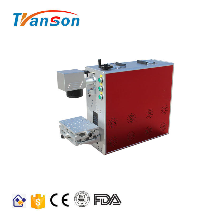 High Quality 20W/30W- Phone 6/6s /code aluminum metal nameplate/copper earring laser marking machine rotary for Sale