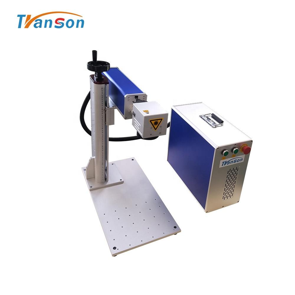 High Speed 20w Mini Fiber Laser Marking Machine For Marking On Stainless Jewelry Steel With CE FDA