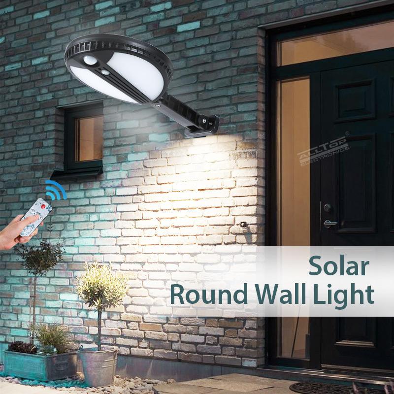 ALLTOP Modern design wall light outdoor garden road lighting ABS material 5w led solar wall light