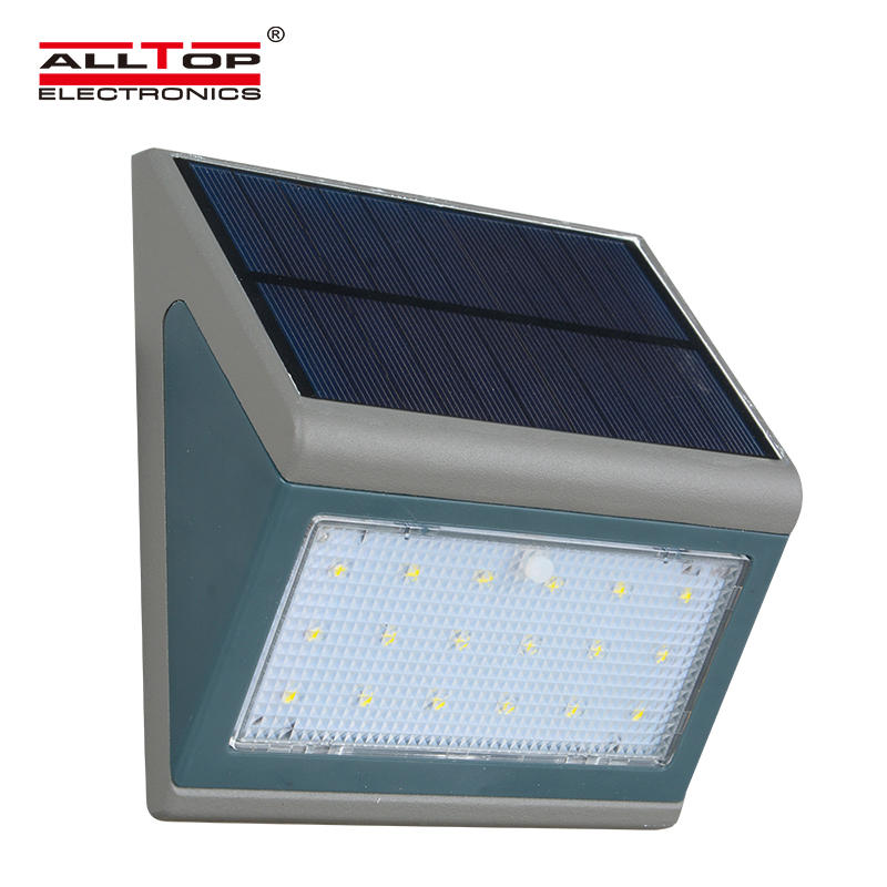 ALLTOP High quality Up down cool white waterproof 3w 5w outdoor solar led wall light
