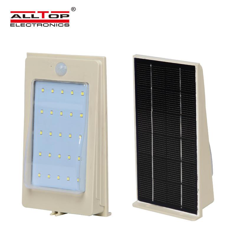 ALLTOP 3w wall mounted motion sensor solar mini led outdoor wall light