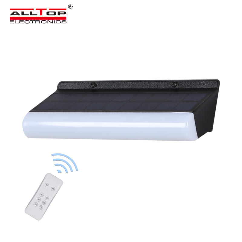 ALLTOP Hot selling modern deign outdoor lighting smd IP67 9w Solar LED Wall Light With Remote Control