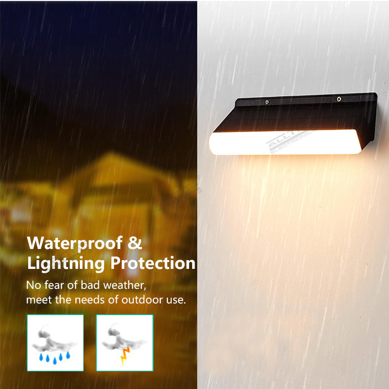 ALLTOP High Quality SMD LED Garden Waterproof Light Outdoor Light Motion Sensor Solar Wall Light With Remote Control